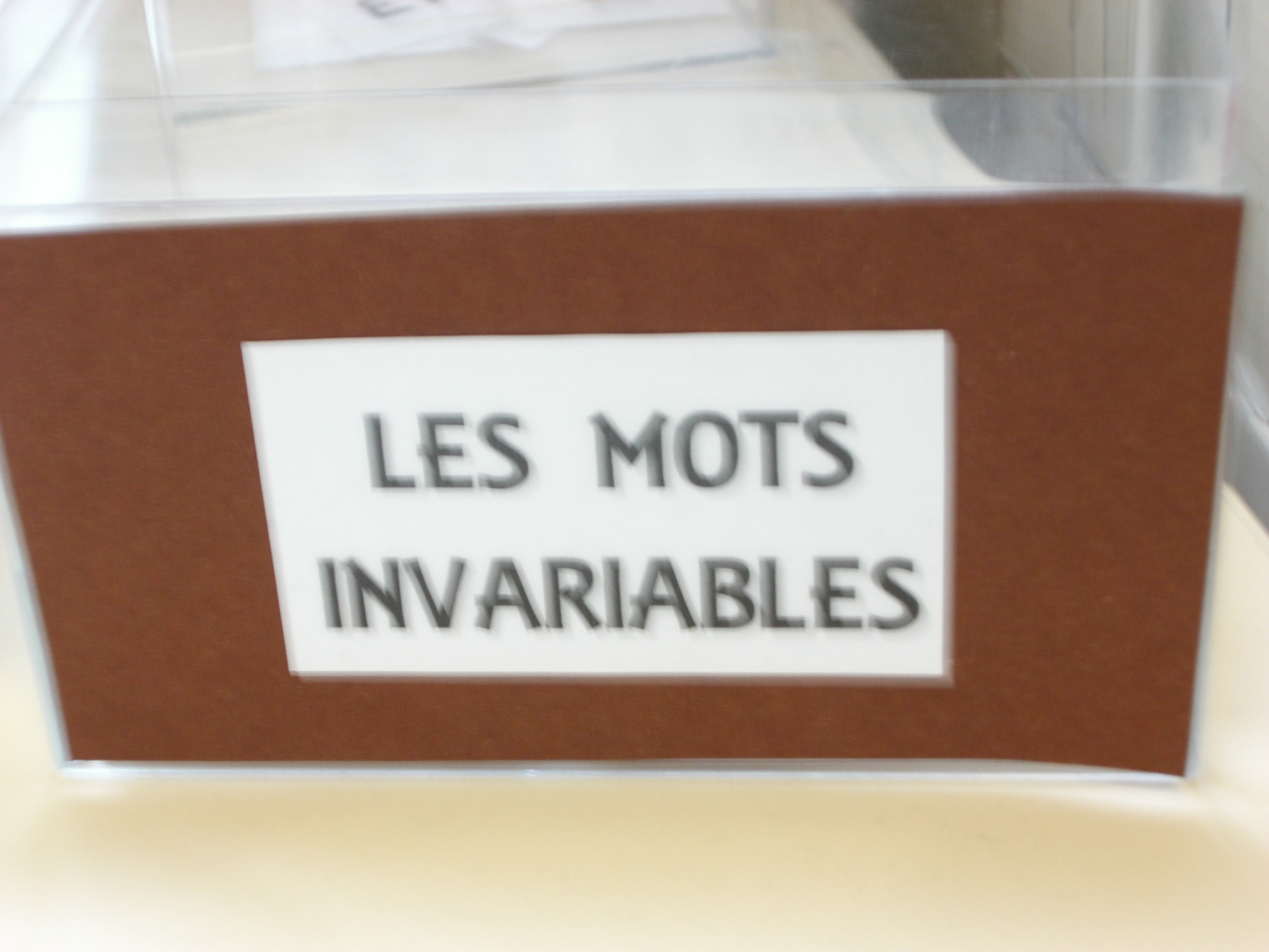 Photo illustrant : Les mots invariables